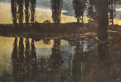 After sunset, 1898 by Dr. Hugo Henneberg