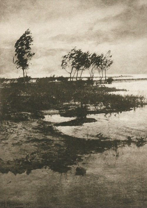 Storm-wind, 1897 by Dr. Hugo Henneberg