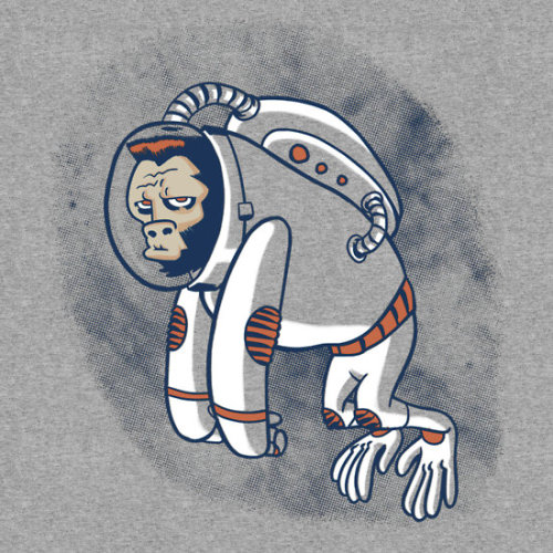 Astronaut Ape by Gimetzco Available as a t-shirt, hoodie, or sticker