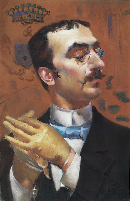 searoots:  Giovanni Boldini: Portrait of a Dandy (formerly portrait of Toulouse-Lautrec) by deflam on Flickr.