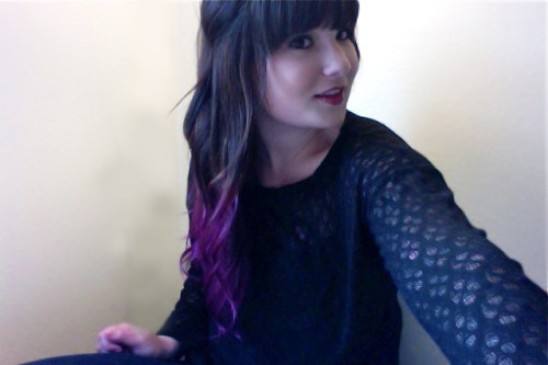 amandajaysays:  I dyed my hair purple today :D Do you guys like it?