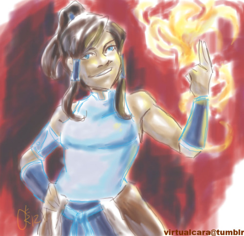 Can't wait for Korra!! And in the spirit of Korra, I will endeavor to conquer my last element, drawing digitally! I apologize in advance for spam. Done in Autodesk Sketchbook Copic Edition.