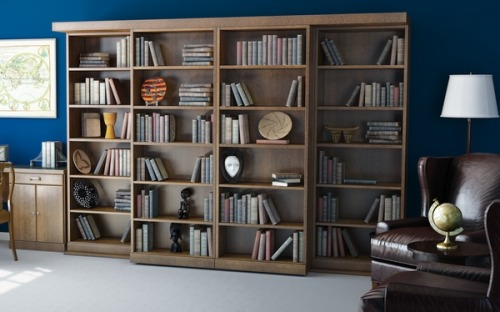 stashvault:  Secret sliding bookcase door conceals hidden Murphy bed