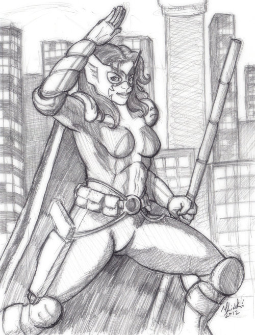 April Huntress :pencil: by =Sakurafire First picture of April 2012.  Huntress.
