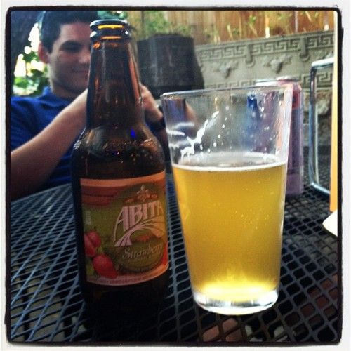 Ahh first strawberry beer of the season finally (Taken with instagram)
