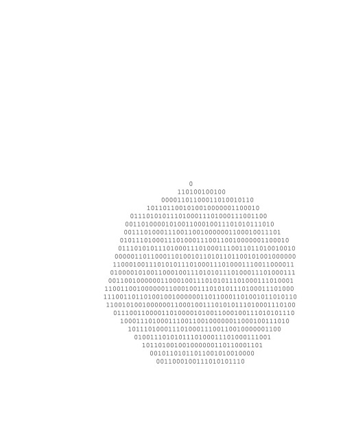 jamiecoxxx:  test for richard tuttle reworkings with binary text.