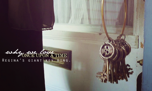 Regina's giant key ring.