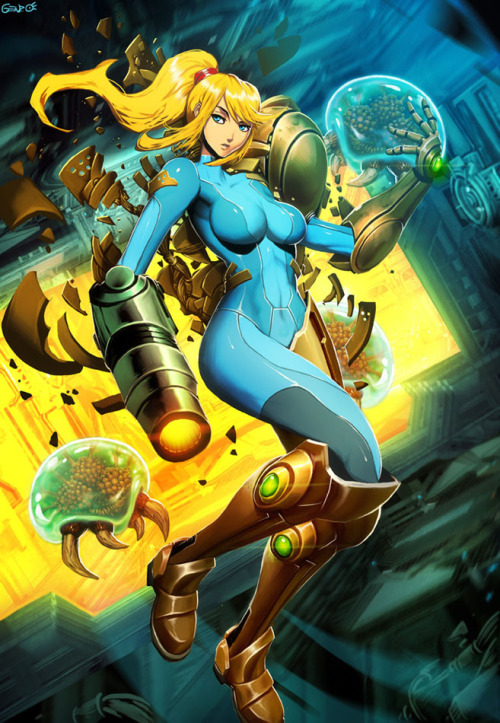 comicbookdeviant:  Metroid // Illustration by Gonzalo Ordóñez Arias / GENZOMAN