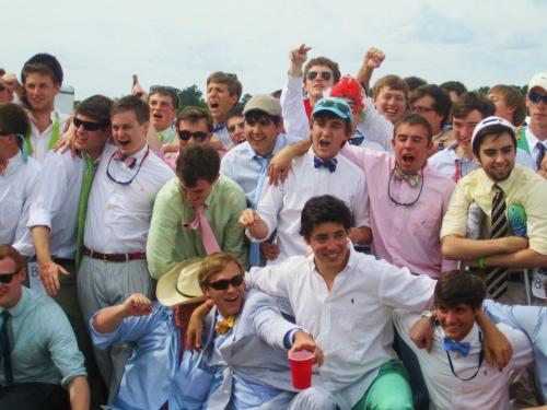 Carolina Cup! Best day ever.  I'm the one with the green pants.