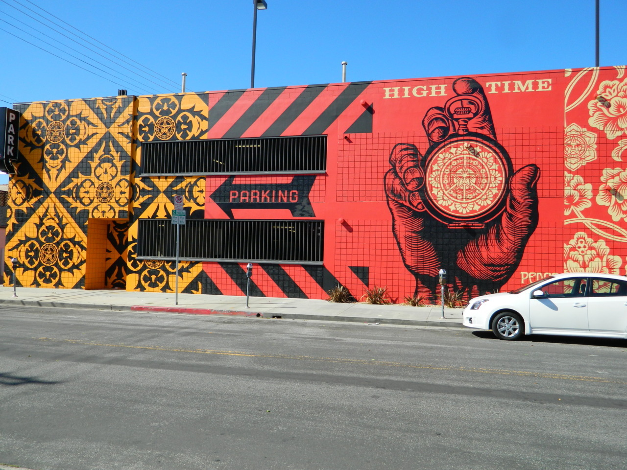 Obey Mural on La Brea in Los Angeles