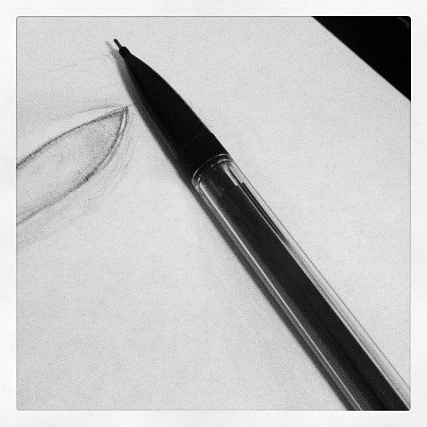 A little teaser. Sketch for my series.  (Taken with instagram)
