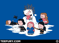 stuntmansteve:  Game of Thrones x Peanuts!  aw, jon snow and ghost