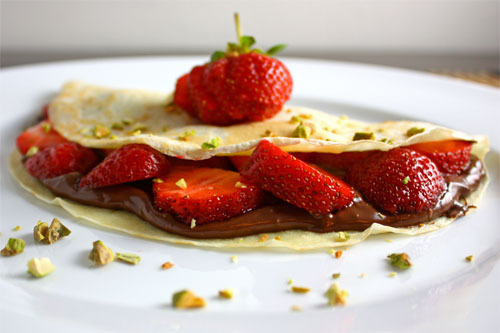 Strawberry Nutella Crepes! (recipe)