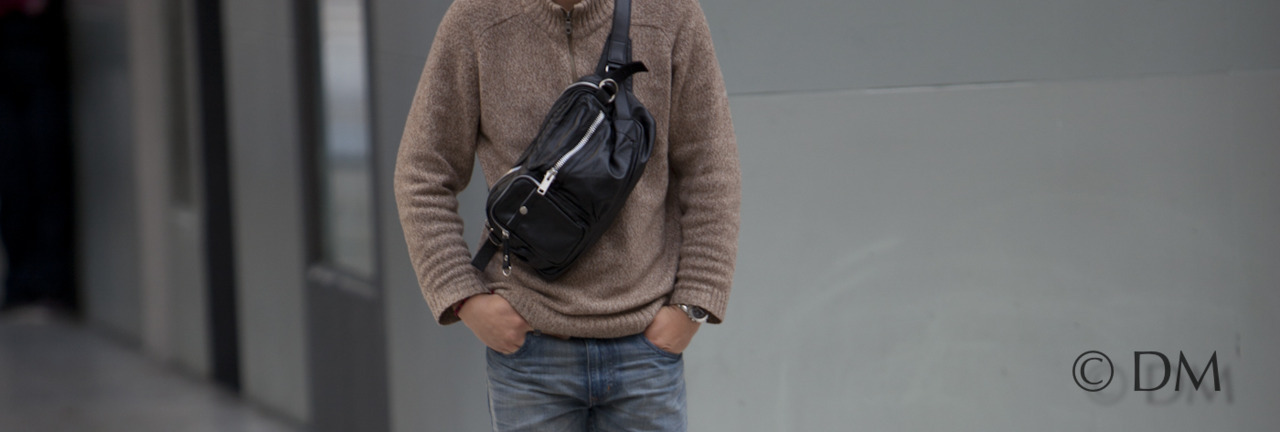 Trend Spotted! The Japanese man bag. Its like a dop kitt with a shoulder strap but better.