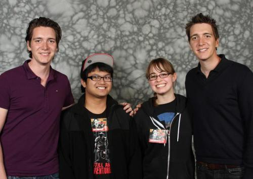 Our photo with the Phelps Twins from Harry Potter!  My 4th month anniversary gift for Madison #Goodboyfriend.