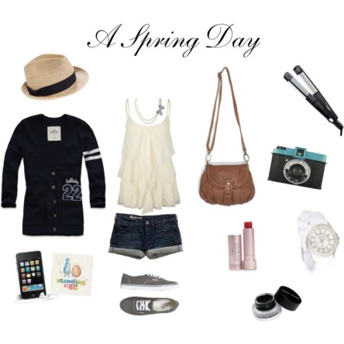 My first polyvore set :)A Spring Day ^^ Standing Egg music yeyy! ♥