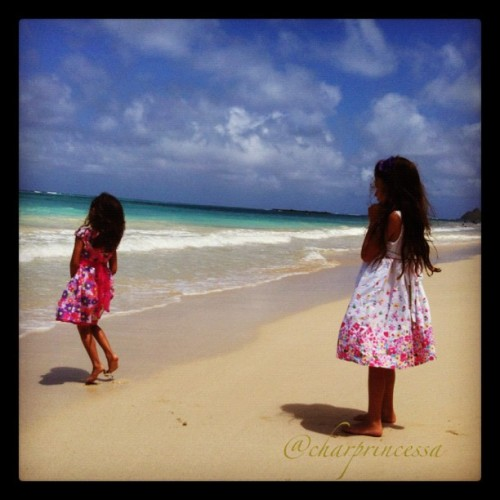Easter Dresses @ my Favorite Beach. #Kailua #808 #instagood #ig #igers #iphone4 #iphoneonly #instagramer #Beach #sky #sand #water #oahu (Taken with instagram)