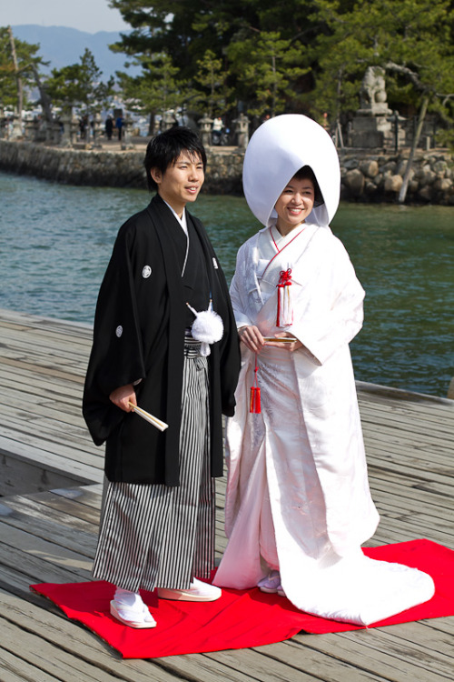 Japanese wedding in Itsukushima Shrine  March 24th, 2012 on Miyajima Island