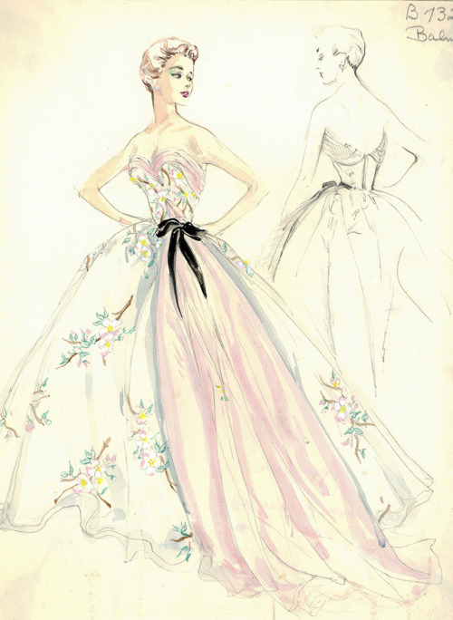 Gorgeous sketch, I would love to see the finished product of this dress.