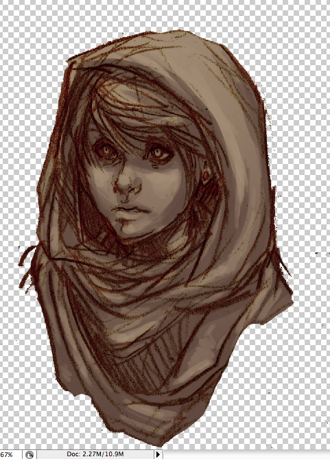 With the silks hood up, I feel like she belongs in a desert setting instead..