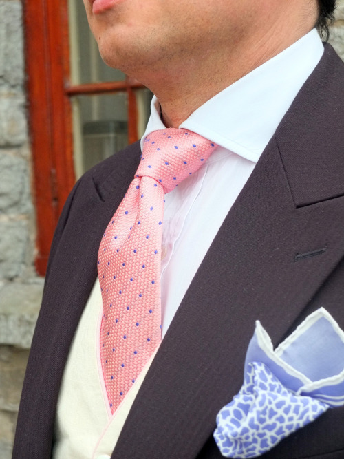 saltz:  Spring Wedding attire Morning coat - Favourbrook, Tie - Turnbull & Asser, Shirt - Bespoke, Waistcoat - Favourbrook, Pockette - Tom Ford