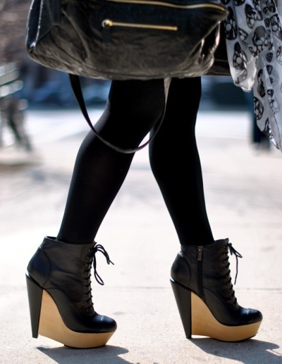 billidollarbaby:  Kelsi Dagger wedge booties