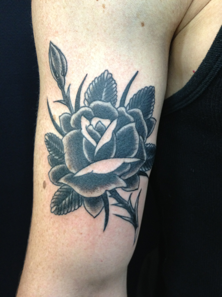 My New tattoo. Black rose