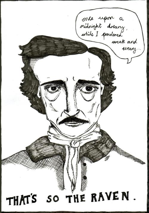 charlotteespley:  A picture of Edgar Allen Poe I made