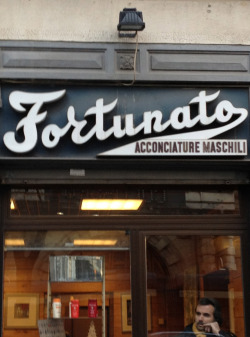 """Fortunato"" barber shop, Milano, Italy Taken with iPhone"