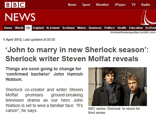 Happy April. Edit: This article didn't happen. Photoshop did. Neither BBC nor Moffat were involved in this.