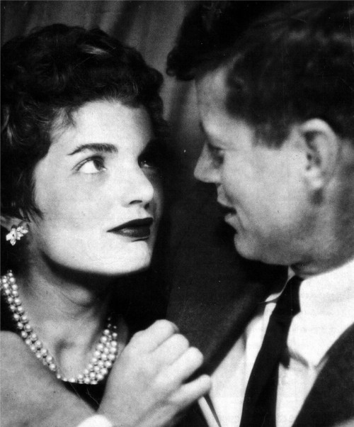 theniftyfifties:  Jackie and John Kennedy