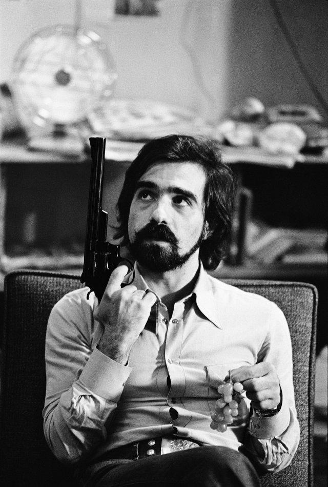 closetotheexitdoor:  Martin Scorsese on the set of Taxi driver (1976).