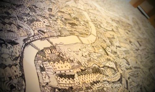 This print of London is currently with the screen printers.