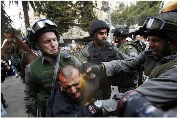 Bag's Take-Away: Pepper Spray Cop makes it to Israel. via Reuters Editor's Choice (credit: Ammar Awad/Reuters caption:  Israeli border police officers use pepper spray as they detain an injured Palestinian protester during clashes on Land Day after Friday prayers outside Damascus Gate in Jerusalem's Old City March 30, 2012.)  Visit BagNewsNotes: Today's Media Images Analyzed ————— Topping LIFE.com's 2011 list of Best Photo Blogs, follow us at: BagNewsNotes; BAG Twitter; BAG Facebook; Bag by Email.