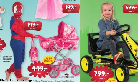 "dccubster:  alimarko:  melancholywise:   A new Swedish toy catalogue has reversed the traditional gender roles by showing Spiderman pushing a pram, and a young girl riding a toy racecar. Kaj Wiberg is the CEO of the company behind the catalogue, ""Leklust"", and claims that it is time to move forward from old-fashioned gender restrictions.""Gender roles are an outdated thing,"" he told Metro newspaper.  I thought you guys might like this. Rest of the story can be found here.  :)    BAHAHAHA AWESOME"