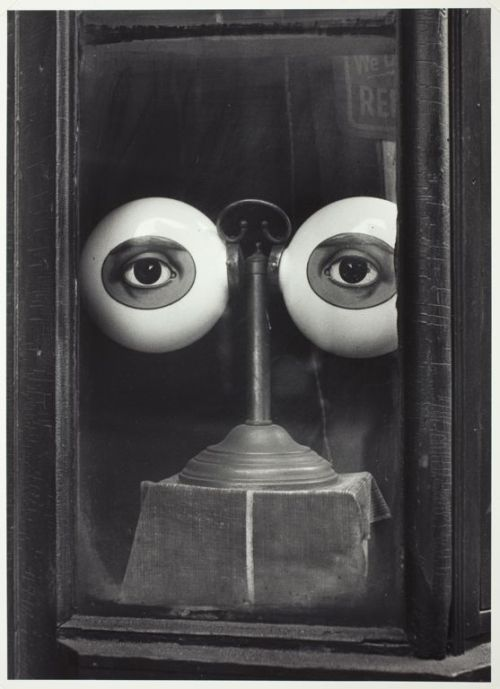 silezukuk:  Irving Penn - Optician's Shop Window (B), New York, c. 1939, printed 1982 [***]