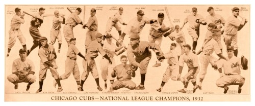 1932 Chicago Cubs Team Composite National League Champions, 1932