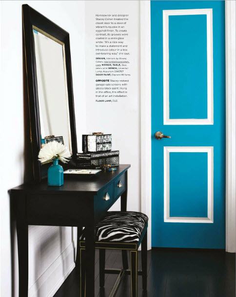 Blue doors may be the way forward.