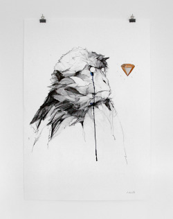 "Philipp Zurmöhle ""Eyes on the Prize"" - pencil and water colour on paper, 70 x 100 cm"