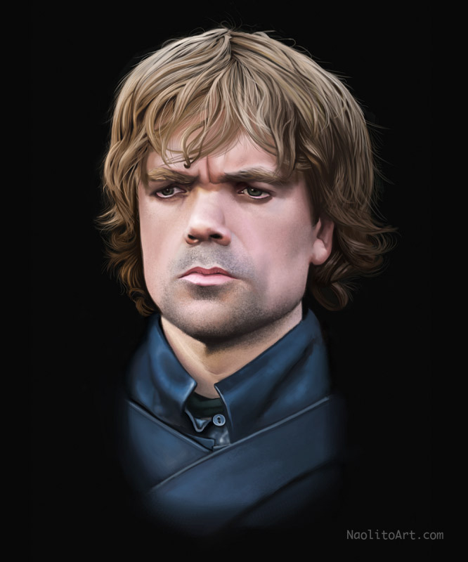 My second digital painting portrait, Tyrion lanister