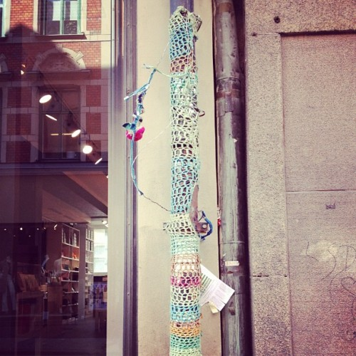 Knit graffiti @Götgatan #livestockholm  (Taken with instagram)