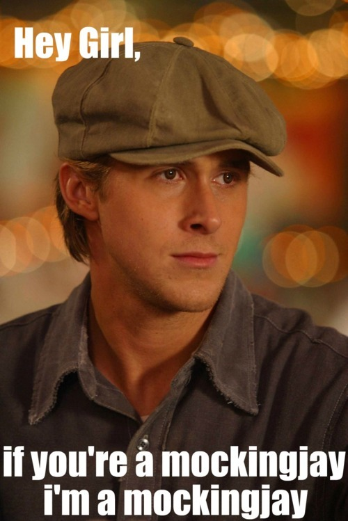 Hunger Games Ryan Gosling gives us a double whammy of book-turned-movie cuteness!