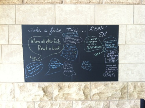 The Chalkboard with some of the Reading quotes from the Teen Zone