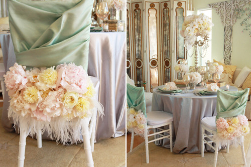 t-fairygodmotherofweddings:  Romantic Table Settings…