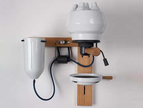 Ceramic espresso machine by Arvid Housser