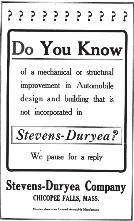 ~ Cycle and Automobile Trade Journal, June 1909
