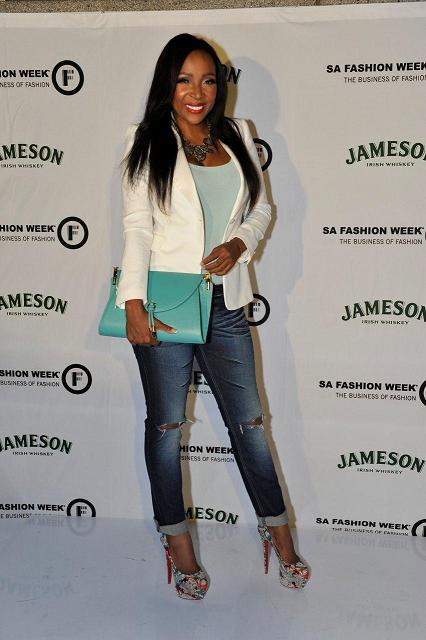 @UyandaM at the Jameson SA Fashion Week Opening Party, looking amazing!