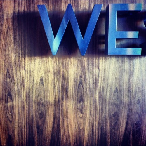 #we #sign #type #wood #metal #letter #typography (Taken with instagram)