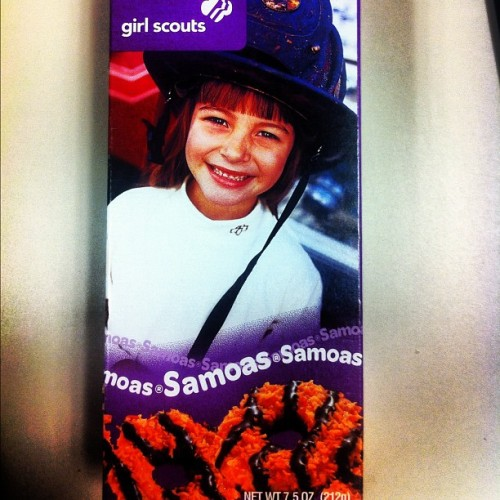 Girl Scout Cookies in the office! Samoas! (Taken with instagram)