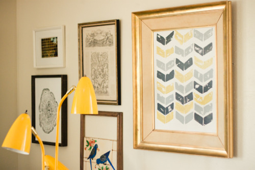 Chevron potato stamp art